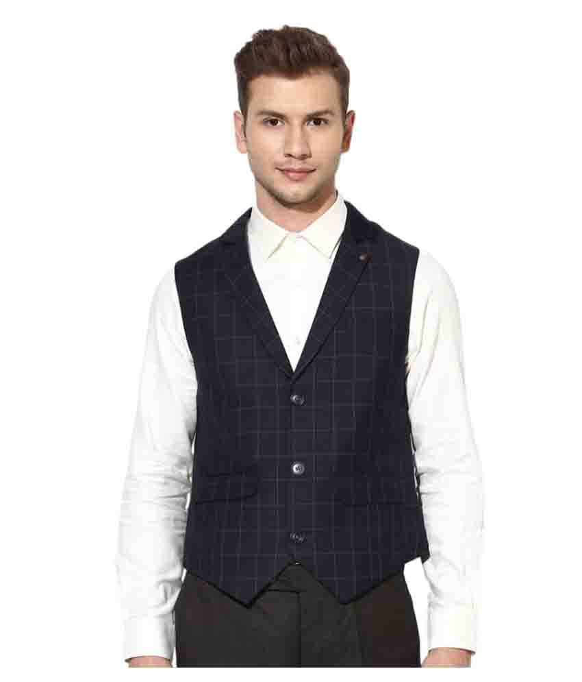 Turtle Navy Checks Party Waistcoats