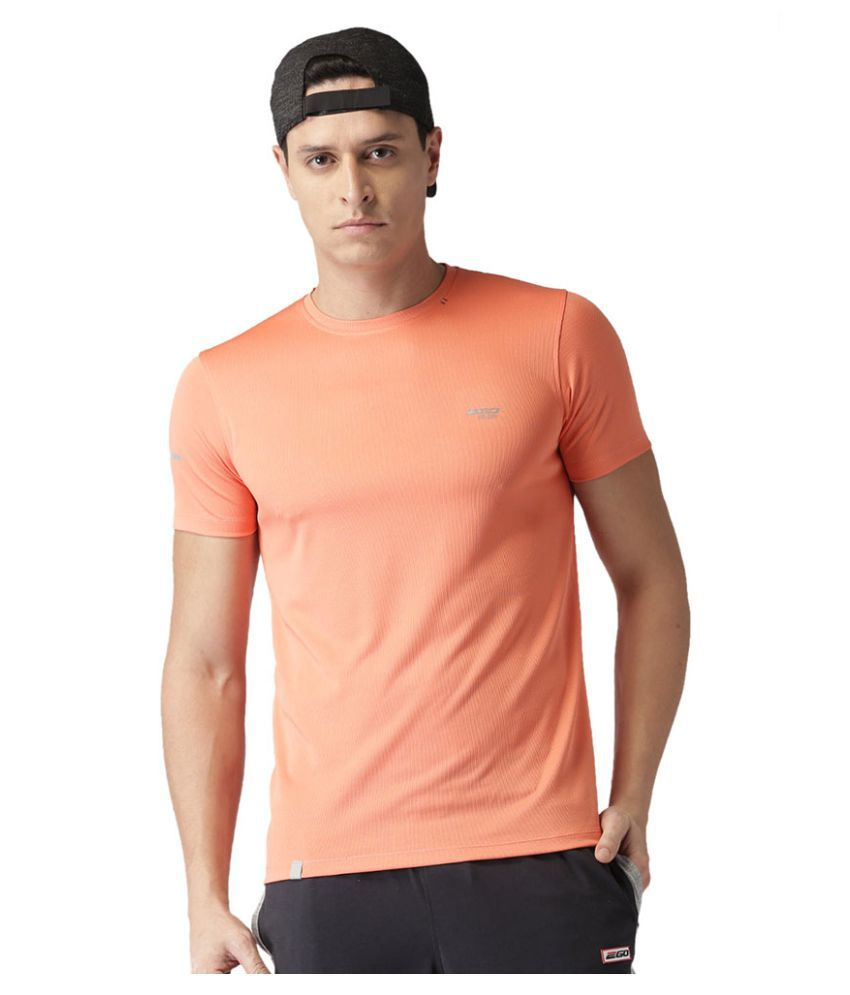 2GO Peach GO Dry Round Neck half sleeves T-Shirt