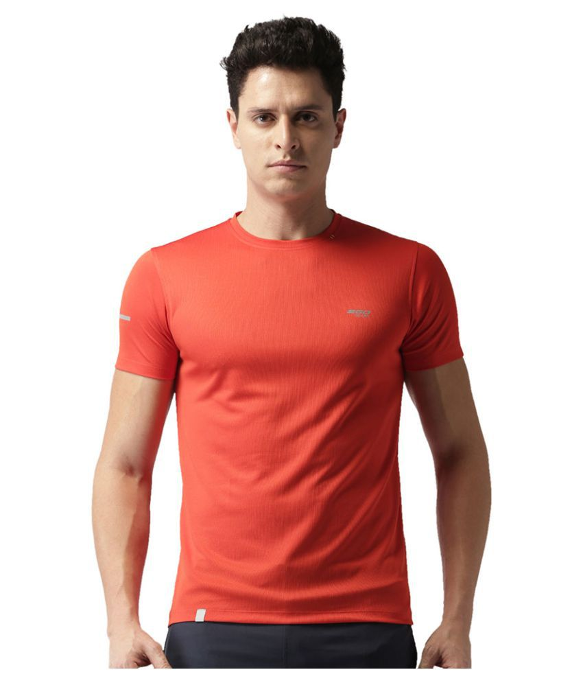 2GO Orange GO Dry Round Neck half sleeves T-Shirt