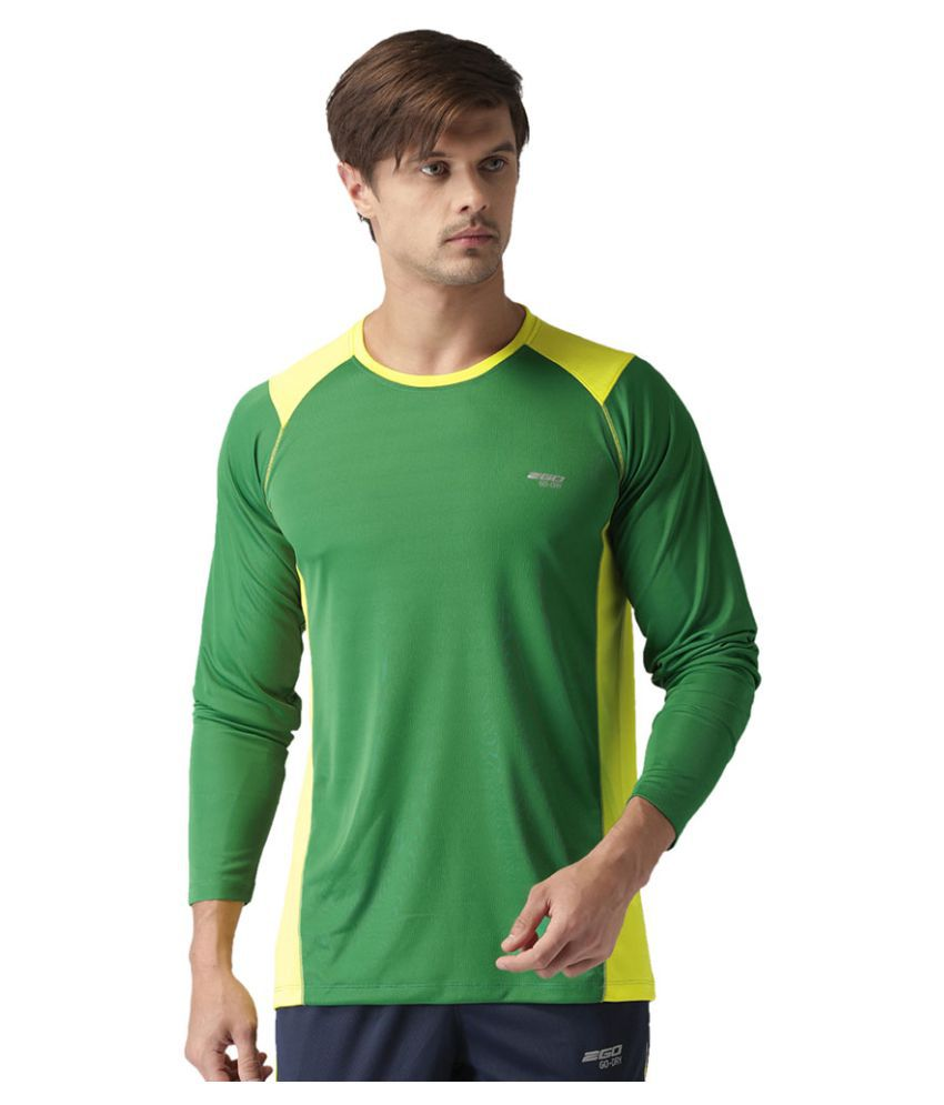 2GO Green GO Dry Round neck Full sleeves  Performance T-Shirt