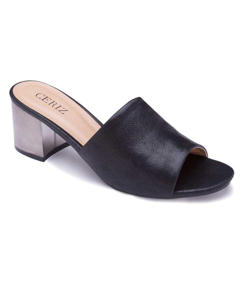 81537c33b4f Ceriz Black Block Heels Price in India- Buy Ceriz Black Block Heels Online  at Snapdeal