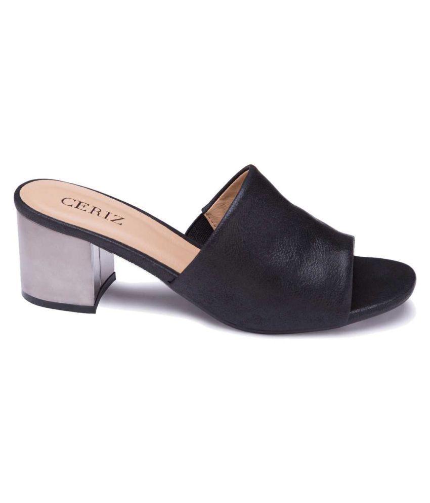66e63f182a6 Ceriz Black Block Heels Price in India- Buy Ceriz Black Block Heels ...