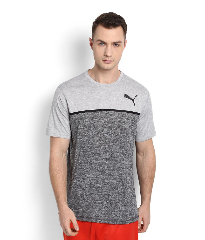 Puma Grey Polyester T-Shirt