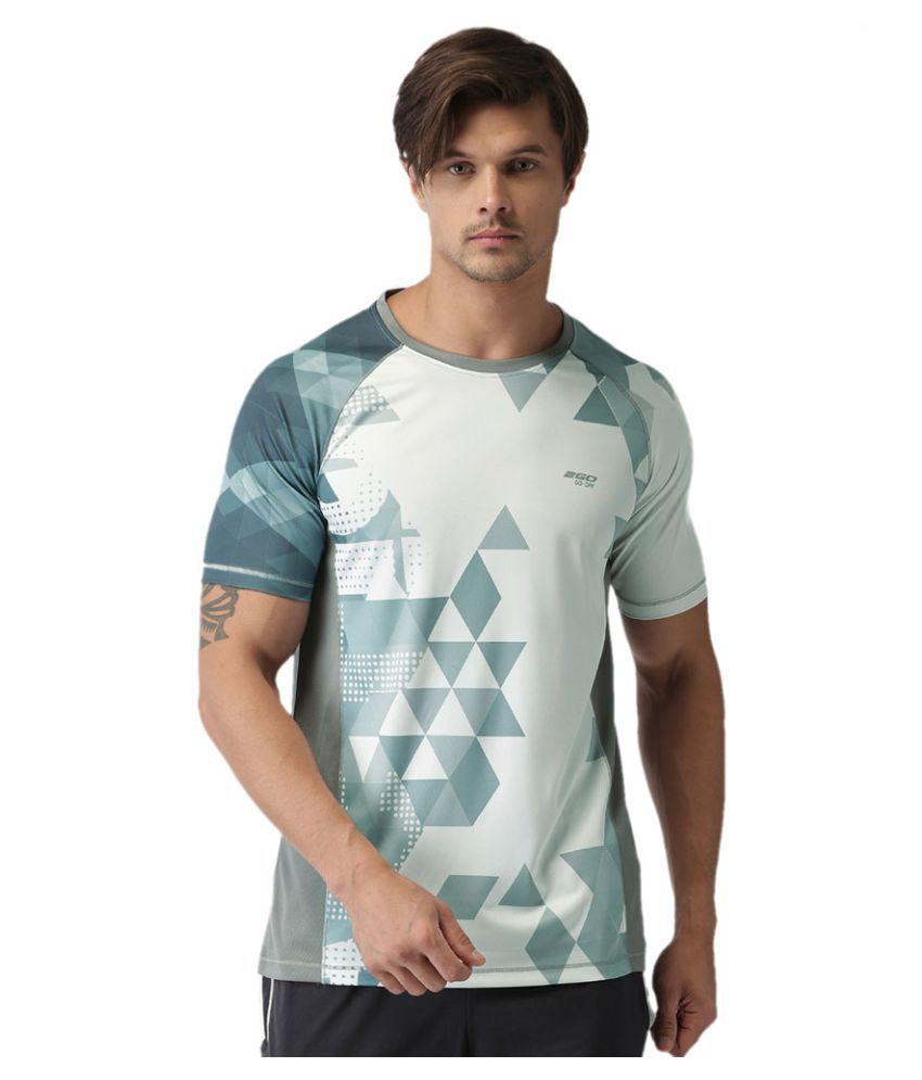 2GO Sweaty Grey Print Half sleeves T-shirt