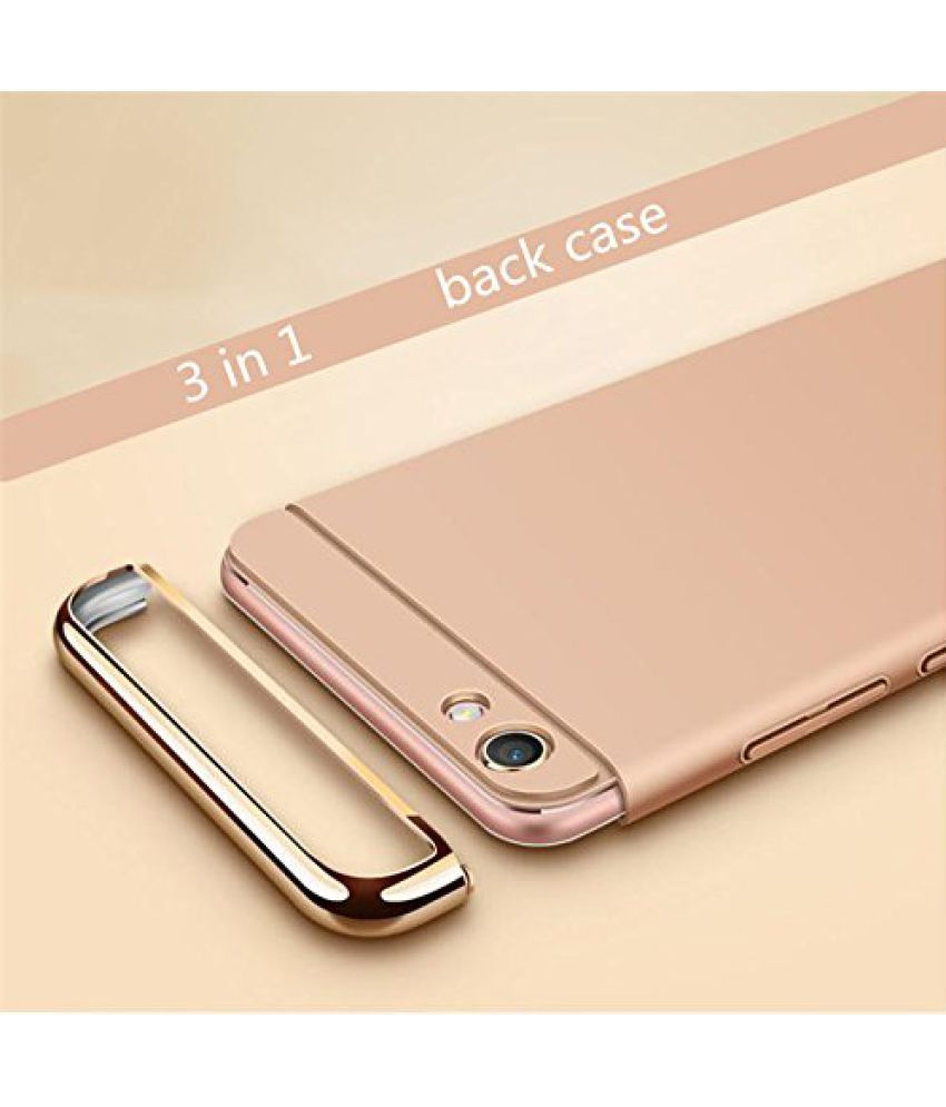 check out b580b a78f6 Oppo A57 Plain Cases SUNNY FASHION - Golden