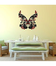 Impression Wall Butterfly PVC Multicolour Wall Sticker - Pack Of 1
