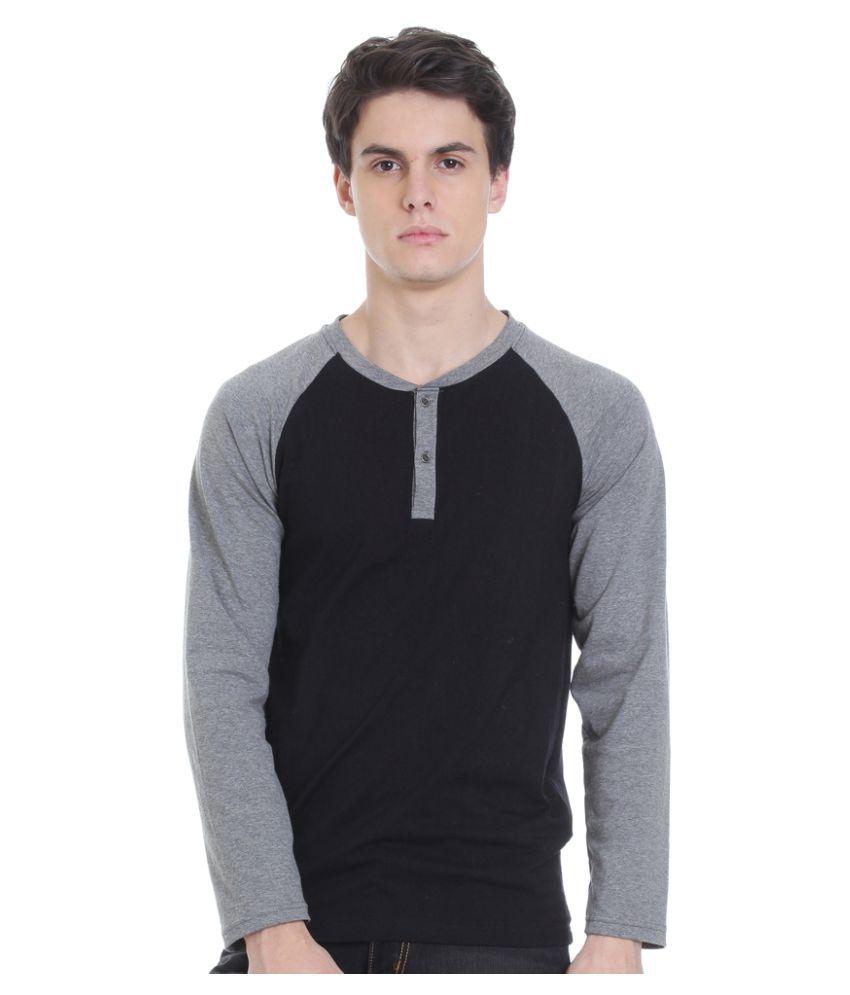 Rocx Black Henley T-Shirt