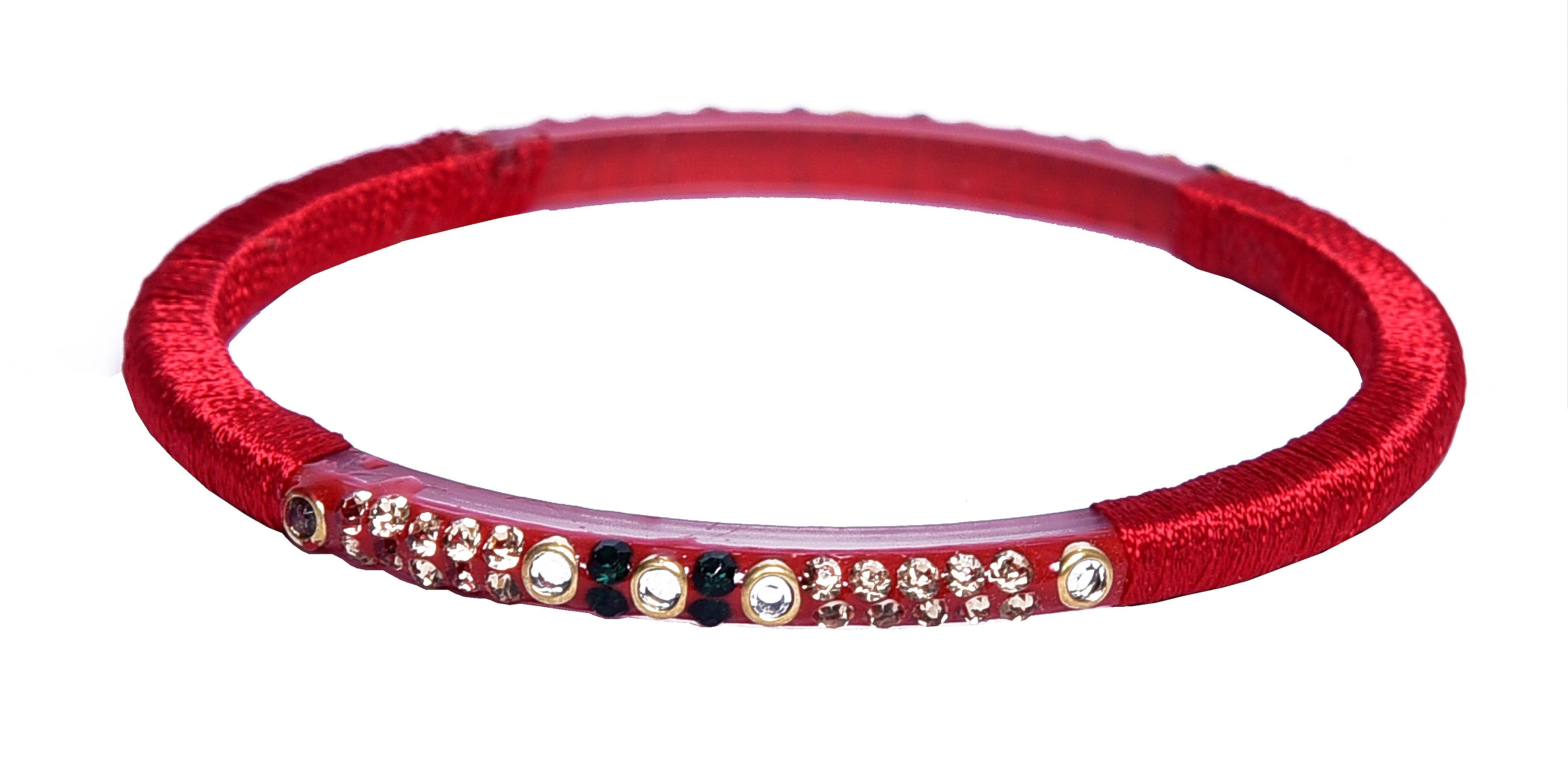 sukriti silk thread girls of product for set acrylic women bangles red partywear