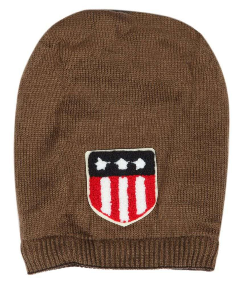 ILU Brown Knitted Wool Caps