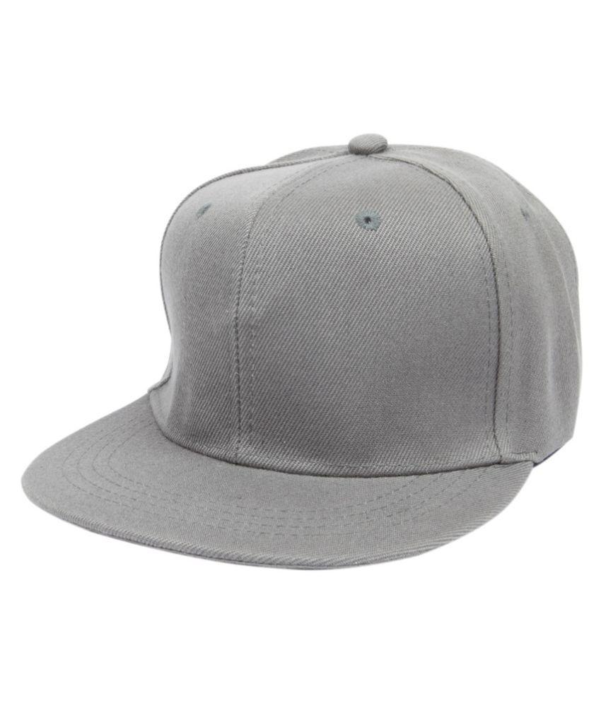 756db964454 ILU Gray Plain Cotton Caps - Buy Online   Rs.