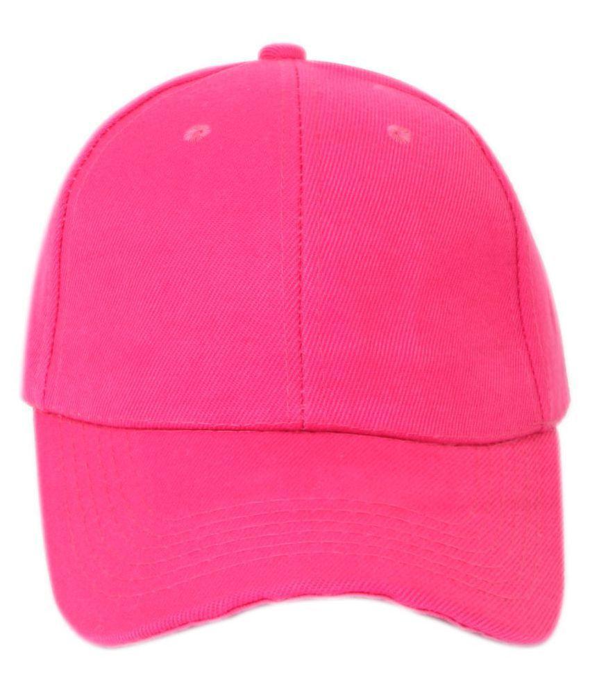 ILU Pink Plain Acrylic Caps