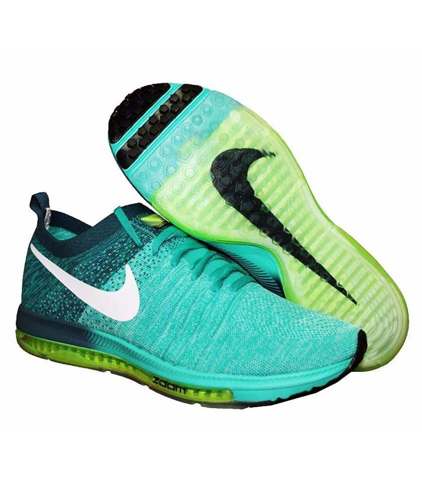 Mens Nike Green And Grey Shoes