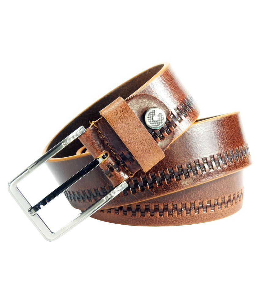 Vogard Tan Leather Casual Belts