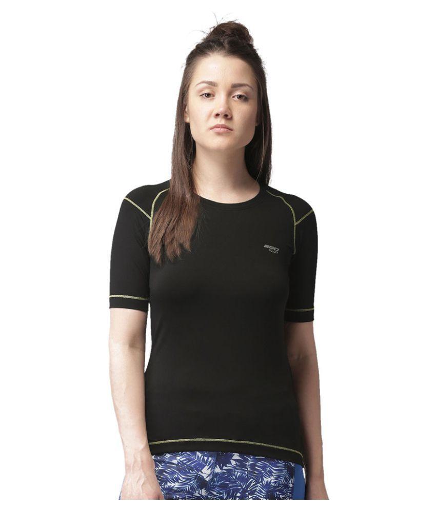 2GO Bold Black Round neck Short sleevs T-shirt