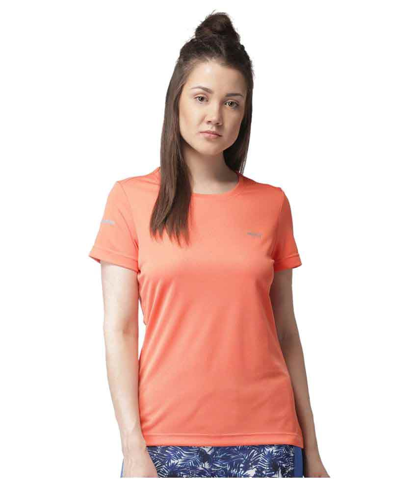 2GO Peach Round neck Half sleeves T-shirt