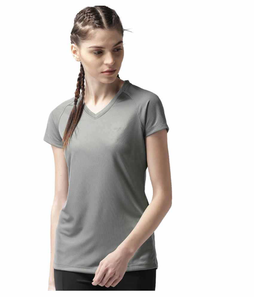 2GO Sweaty Grey V-neck Hlaf sleeves T-shirt