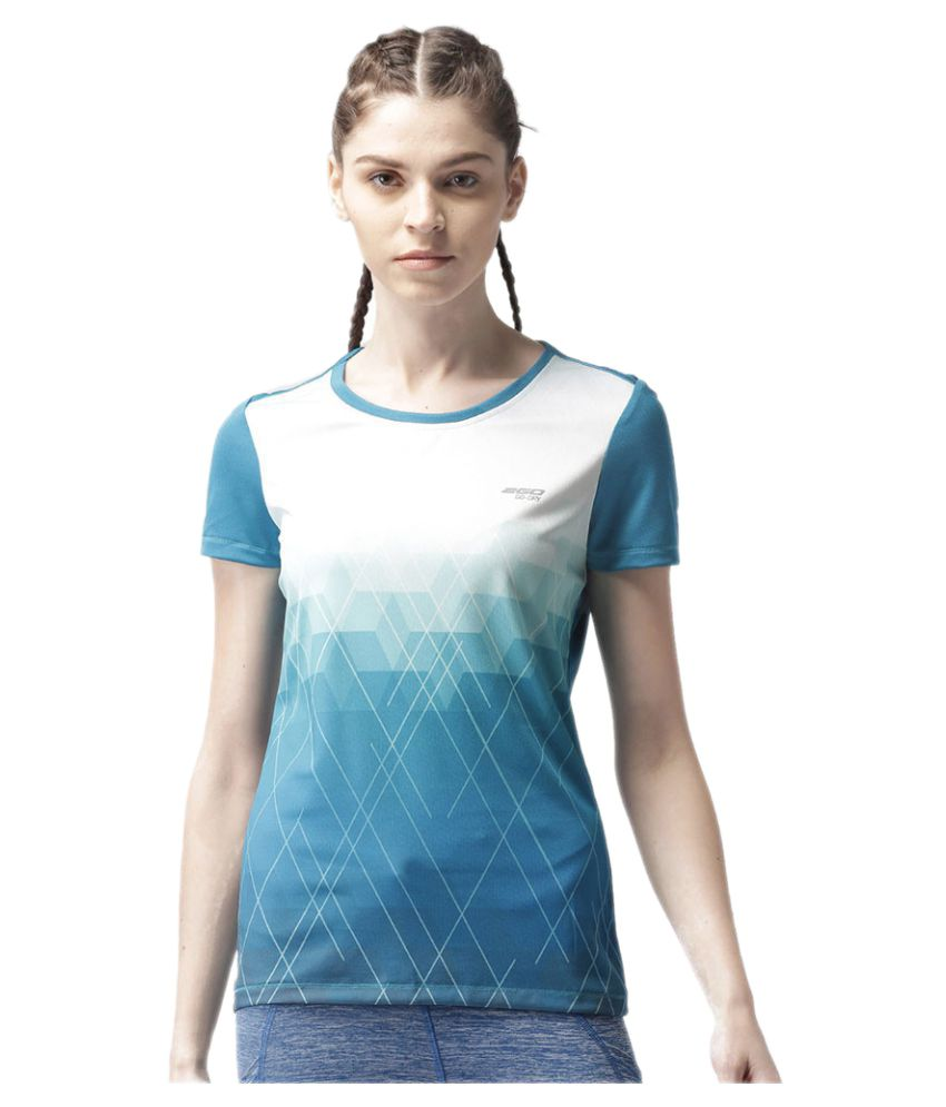 2GO Teal Print Round neck Short sleeves T-shirt