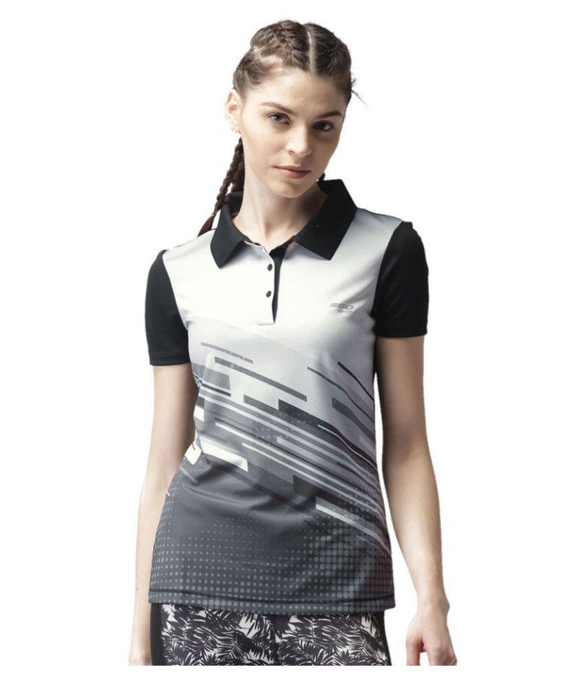2GO Bold Black Print Polo T-shirt