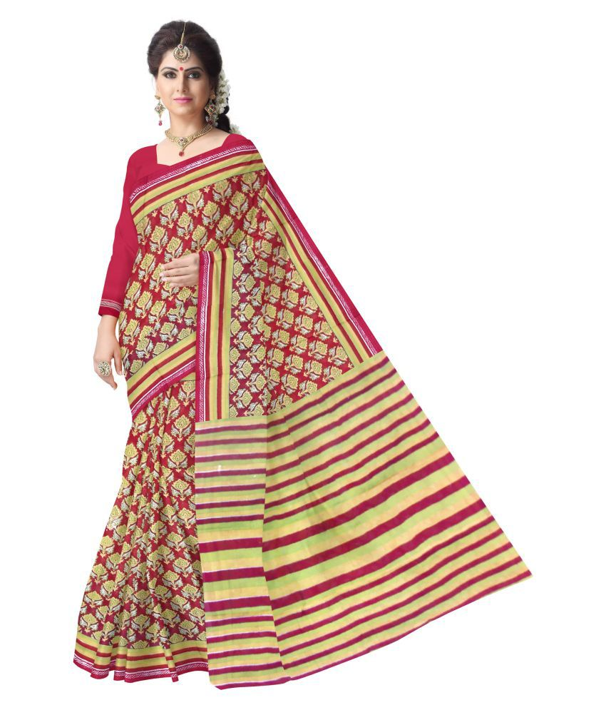 Fab Rajasthan Multicoloured Cotton Saree