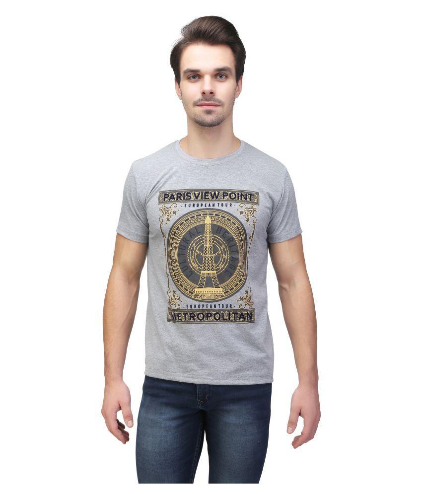 Be-Beu Grey Round T-Shirt