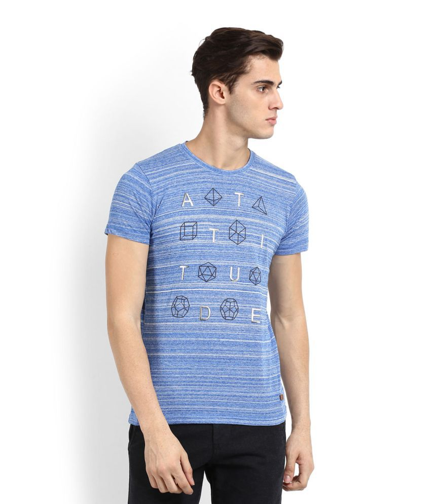 Easies Blue Round T-Shirt