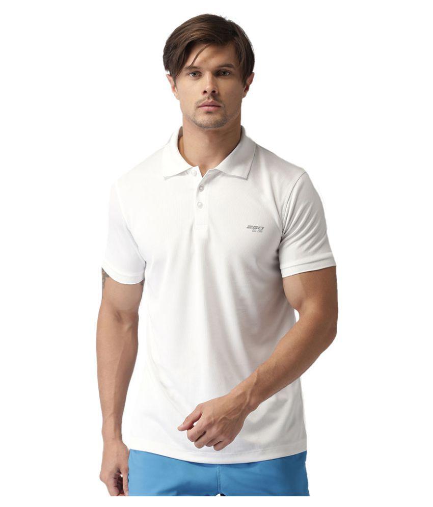 2GO Pace White GO Dry Polo T-shirt
