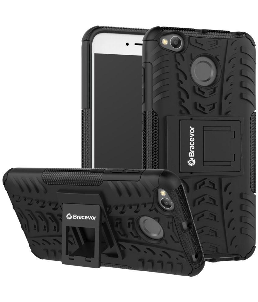 Xiaomi Redmi 4 Cases with Stands Bracevor - Black