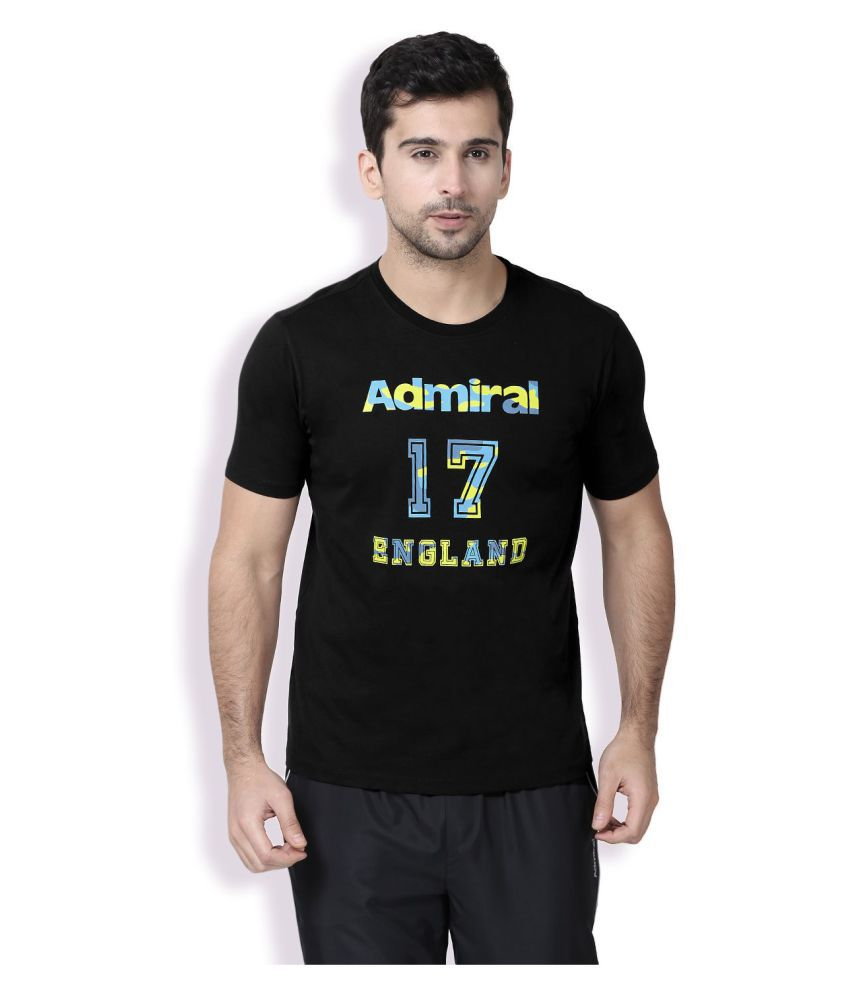 Admiral Black Round T-Shirt