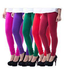 Inaya Cotton Lycra Pack of 5 Churidar Leggings