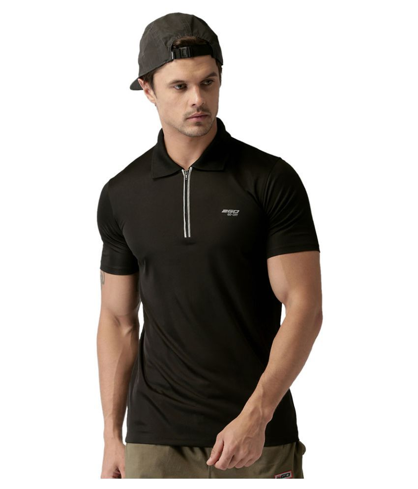2GO Bold Black GO Dry Polo T-Shirt