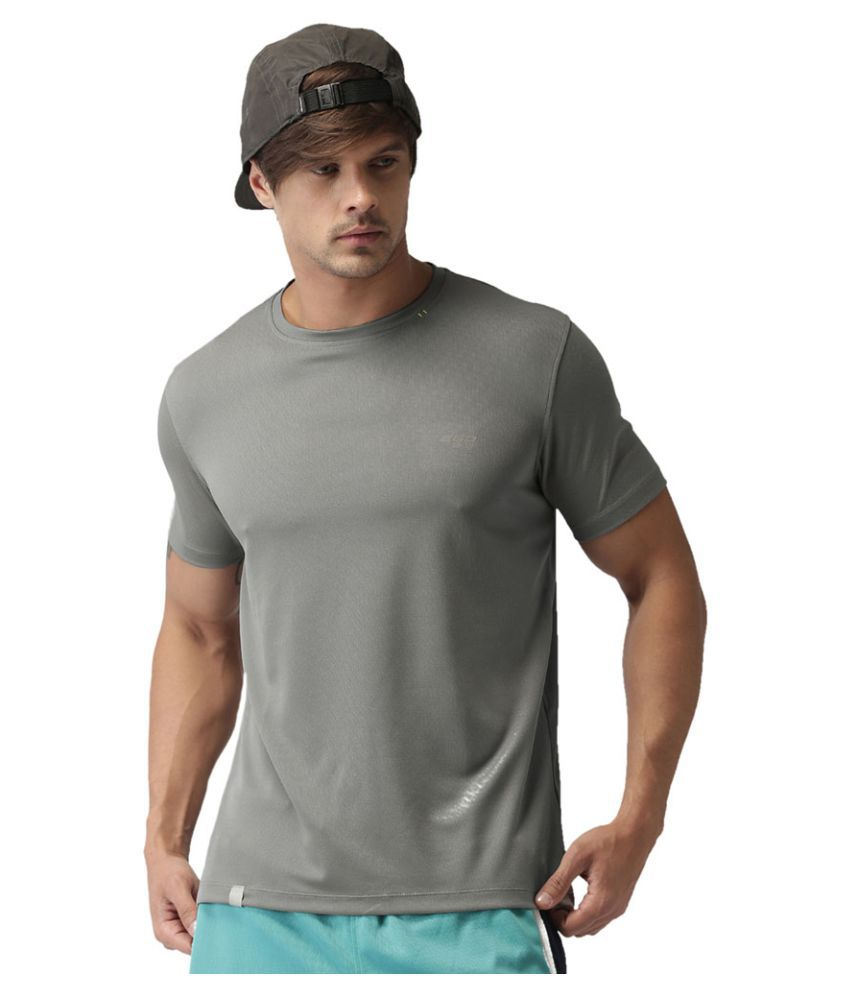 2GO Sweaty Grey GO Dry Round Neck half sleeves T-Shirt