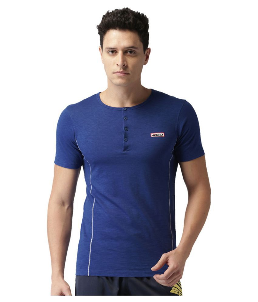 2GO Electric Blue Half sleeves T-shirt