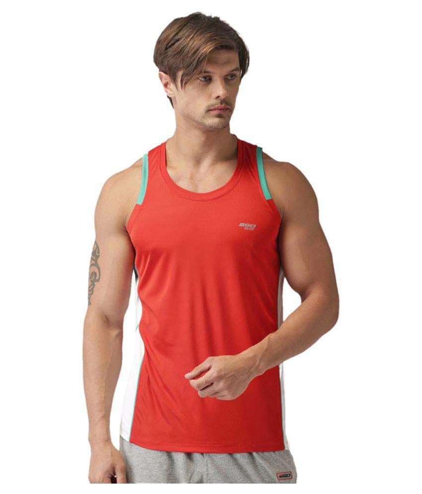 2GO Orange Sleeveless T-shirt