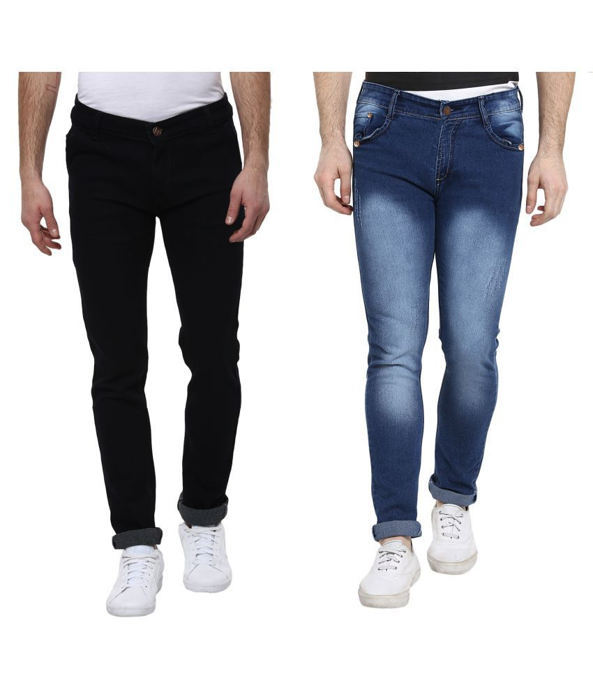 Urbano Fashion Multicolored Slim Jeans