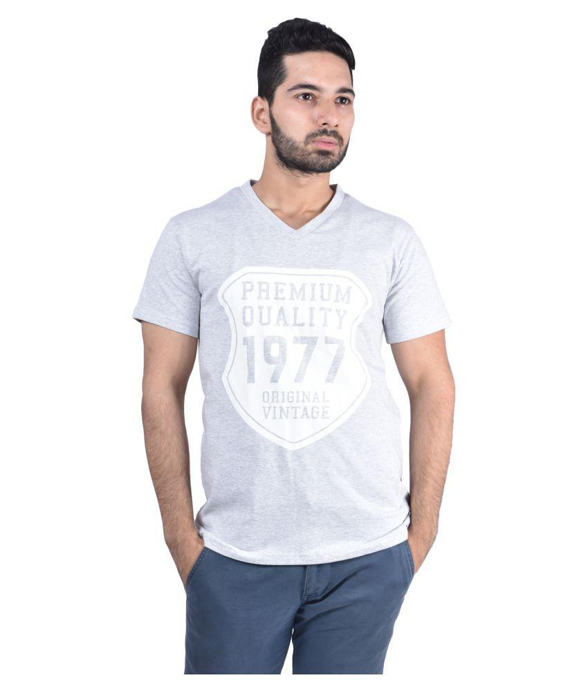 Urban Diseno Grey V-neck T-Shirt