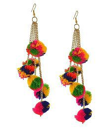 Penny Jewels Traditional Non-Precious Trendy Pom Pom Earrings Set For Women & Girls