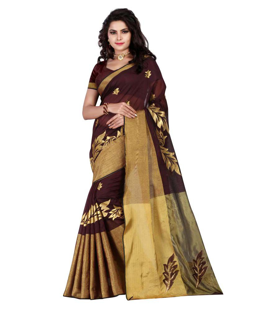 5fa09076f53 Luga Brown and Beige Cotton Silk Saree - Buy Luga Brown and Beige Cotton  Silk Saree Online at Low Price - Snapdeal.com