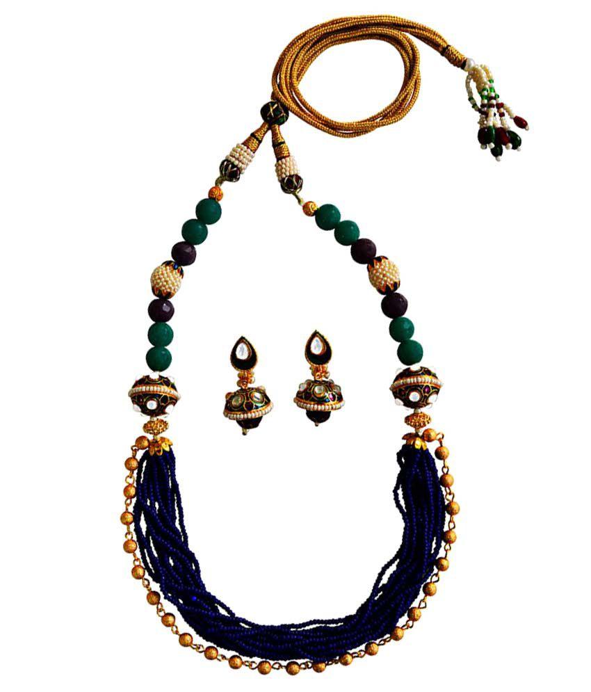 MK Jewellers kundan chid mala necklace set-62