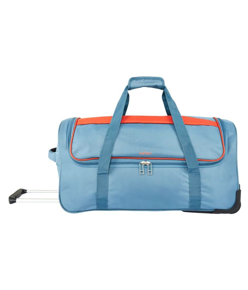 Safari Grid Trolley Duffle Bag Travel bag 9a553b6f35a37