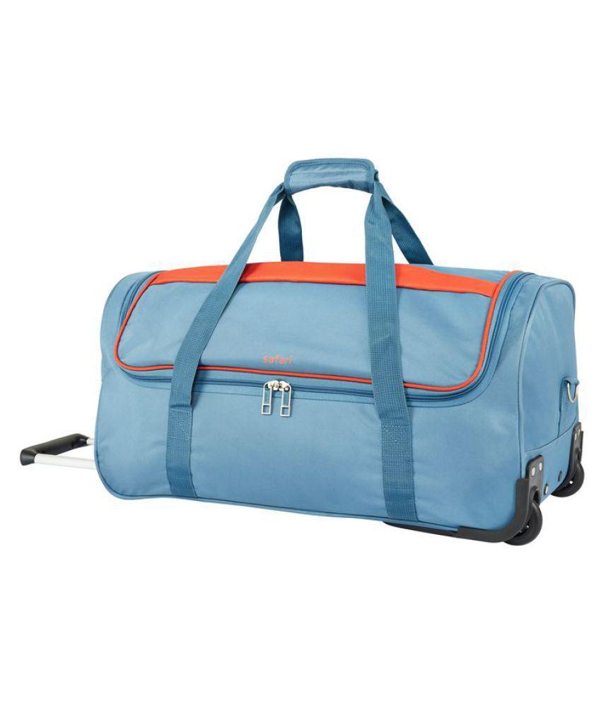 ... Safari Grid Trolley Duffle Bag Travel bag 7fb52b9c5532f