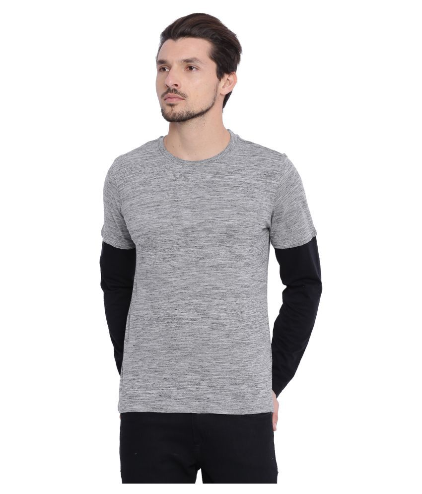 Arise by beroe Grey Round T-Shirt