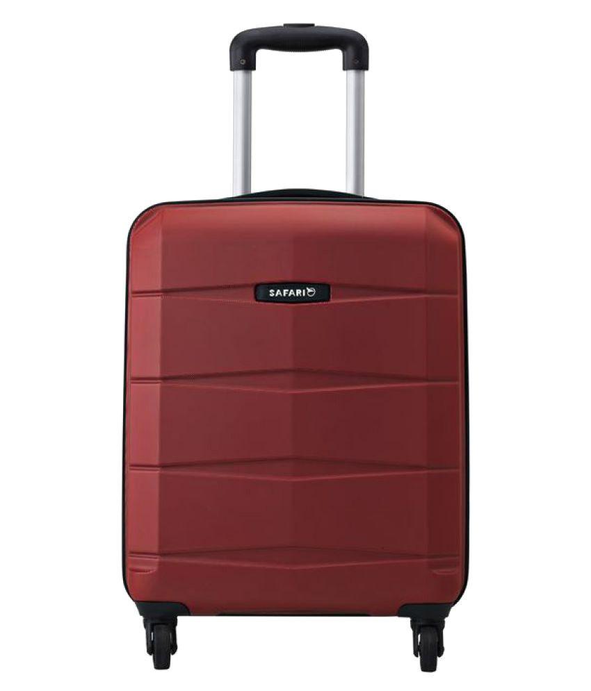 Safari Re-Gloss Anti Scratch Red Medium 4 Wheel Hard Luggage Trolley