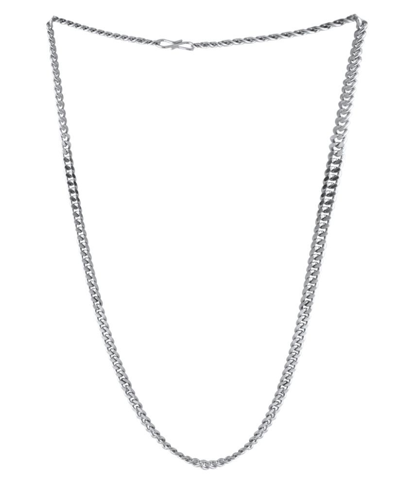 Dare Silver Plated Chain In Link Design For Men