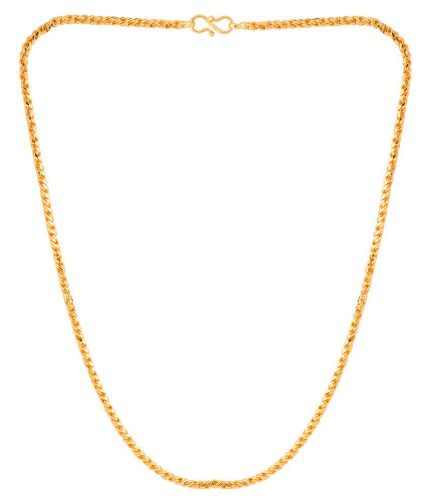 Dare Twisted Designer Yellow Gold Plated Chain  For Men