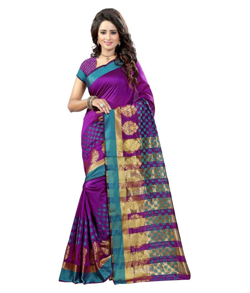 Fashion Fanda Purple Banarasi Silk Saree