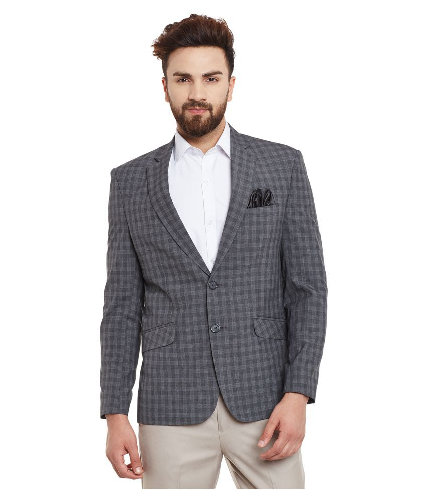 Canary London Grey Checks Casual Blazers
