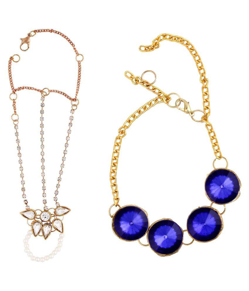 Golden Pentlie and Genie Ring Bracelet for women or Girls