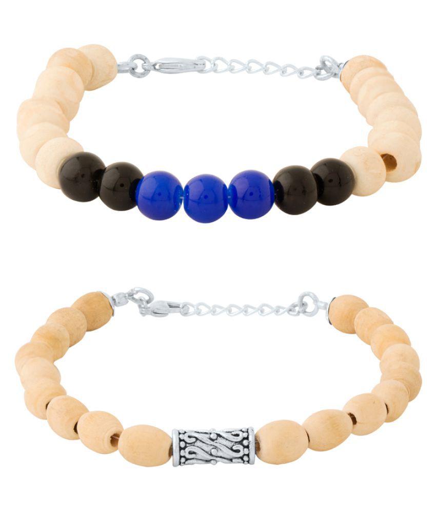 Dare Combo Set Of Tulsi Beaded Bracelet For Men