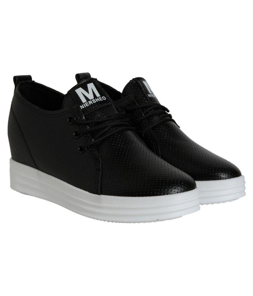 Q'BA Black Casual Shoes