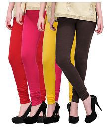 Inaya Cotton Lycra Pack of 4 Leggings